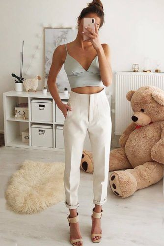 Daisy Trousers With Crop Top Date Night Outfit #croptop