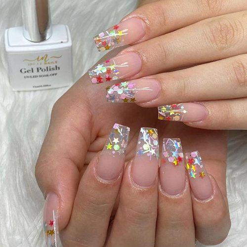 Bright Glitter Nail Tips #brightnails #glitternails