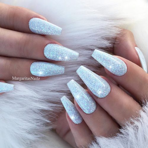 Glitter Nails Designs for Long Nails Picture 2