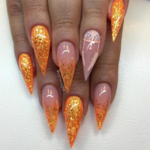 Sparkly Fall Nail Designs for a Stiletto Shape picture 3