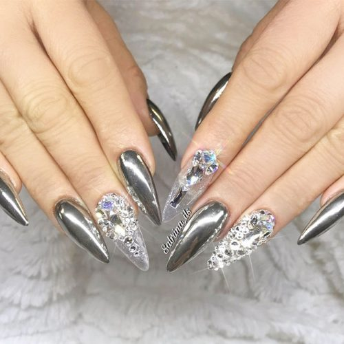 Sparkly Fall Nail Designs for a Stiletto Shape picture 5