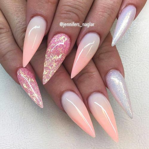 Sparkly Fall Nail Designs for a Stiletto Shape Picture 6