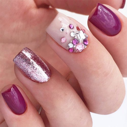 Awesome Sparkly Designs for Natural Nails picture 2