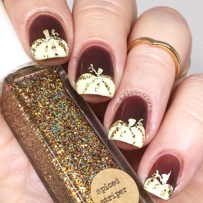 Cute Fall Nails Designs with Pumpkins picture 3
