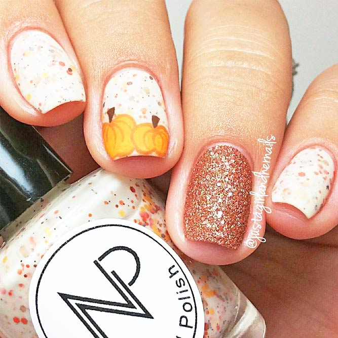 Cute Fall Nails Designs with Pumpkins picture 4