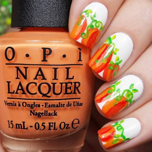 Cute Fall Nails Designs with Pumpkins picture 5