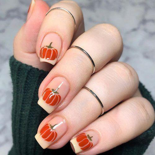 Pumpkin French Nail Design