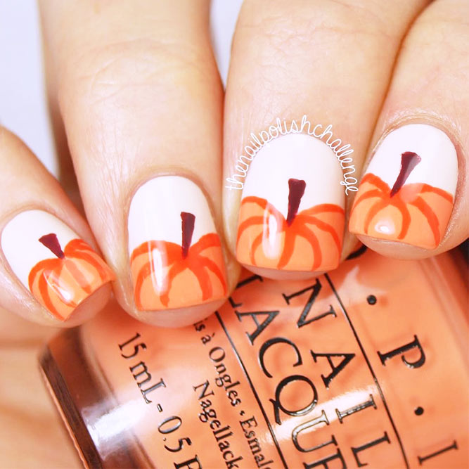 Cute Fall Nails Designs with Pumpkins picture 2