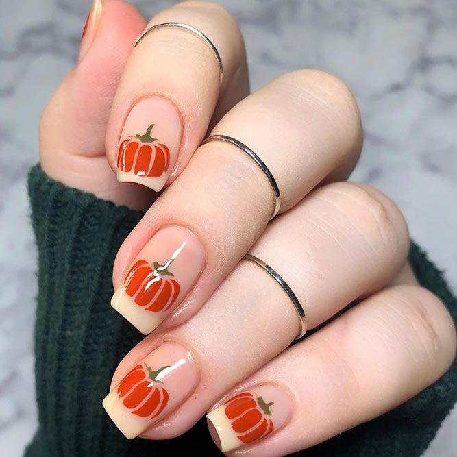 Pumpkin French Nail Design