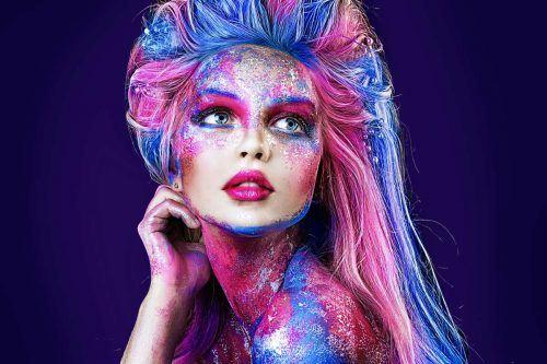 Fantasy Glittery Makeup Looks