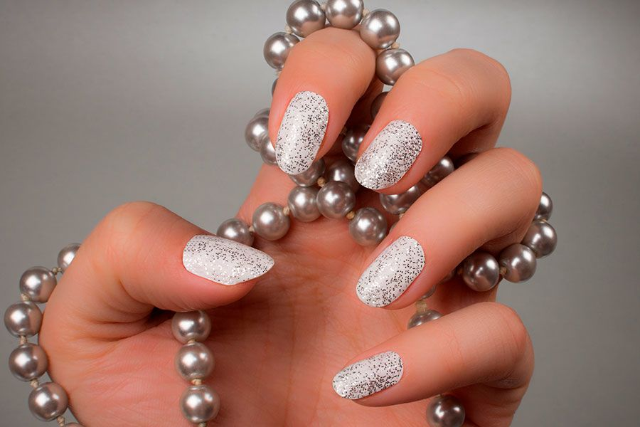 Latest Shimmer Nails Designs
