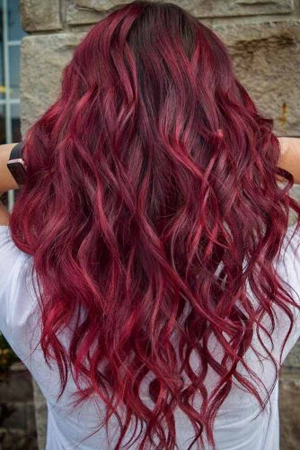 Wavy Burgundy Hairstyle #burgundyhair