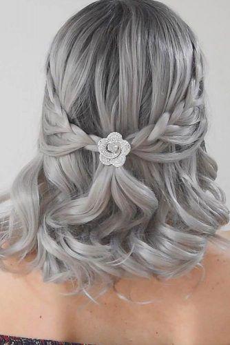 Grey Hair Color #grayhair #mediumhair
