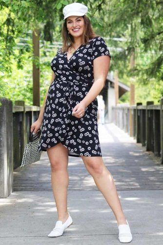 Short Black Plus Size Casual Dress #printdress #plussizedress