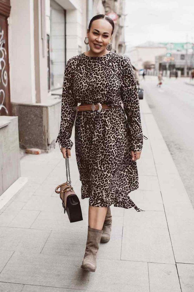 Leopard Printed Plus Size Dress #leopardprint