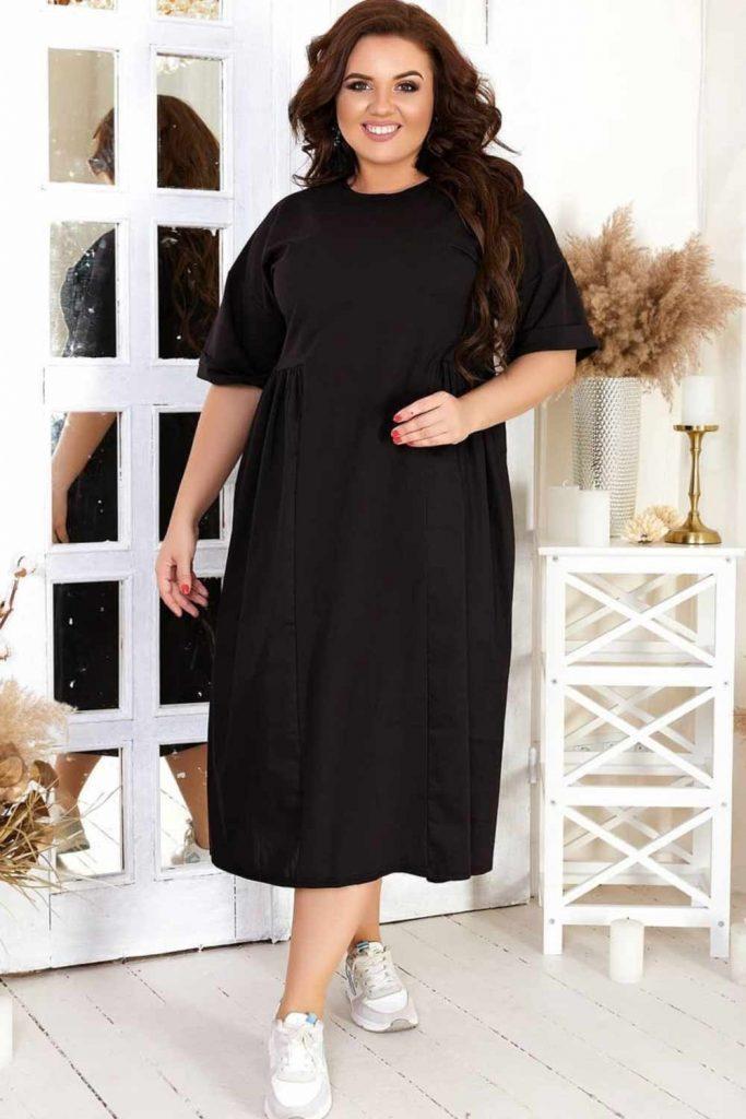 Plus Size Black Dress Design #blackdress