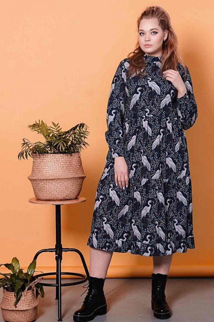 Printed Dress With Long Sleeves #longsleeves
