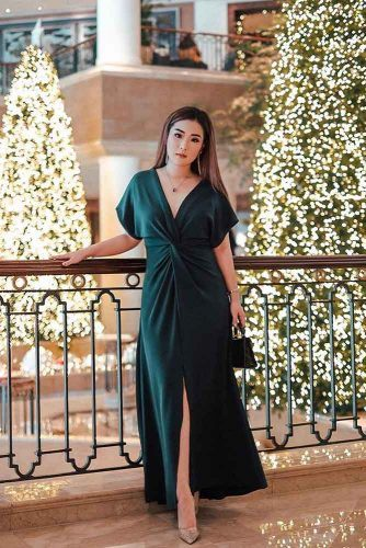 Long Green Dress For Christmas #greendress #longdress