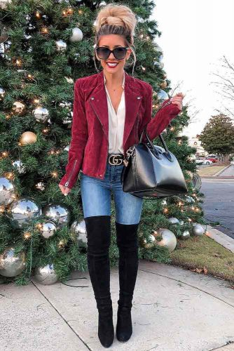 Outfits With Red Jacket For Christmas #redjacket