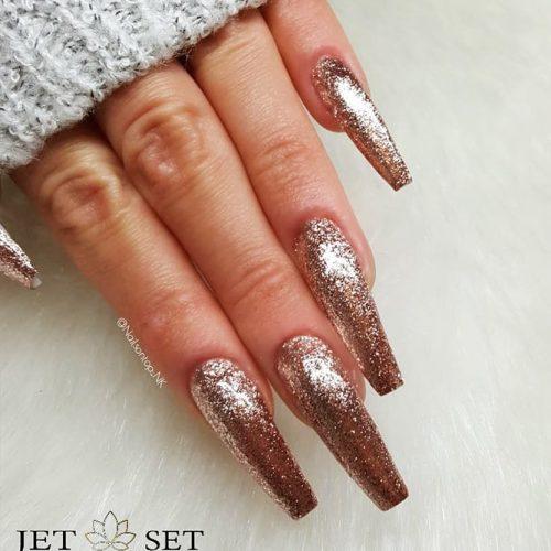 Glitter Coffin Nails Design Picture 4