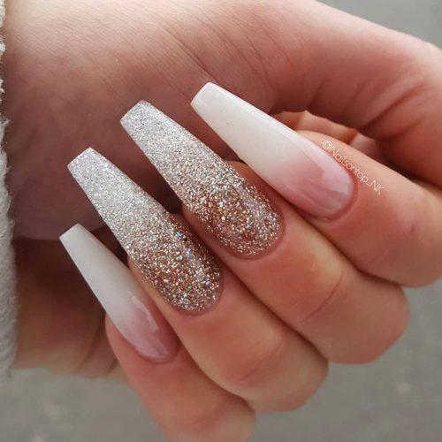 Glitter Coffin Nails Design Picture 3