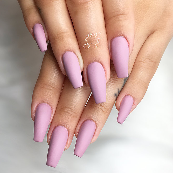 Matte Coffin Nails Design for Beautiful Look Picture 5