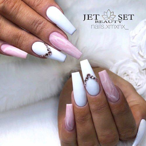 Pink Marble Nails Design #pinknails