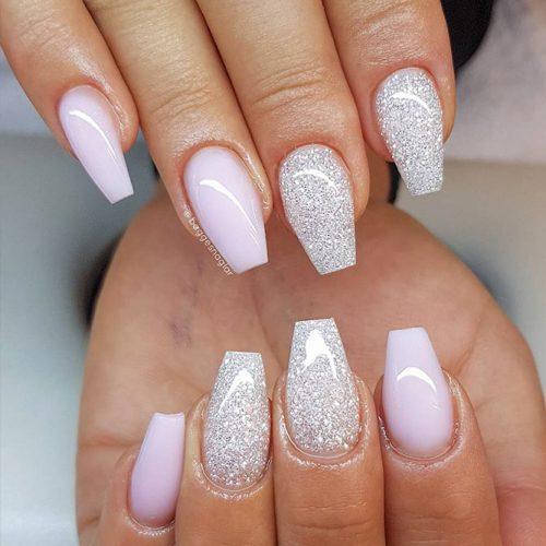 Glitter Coffin Nails Design Picture 5