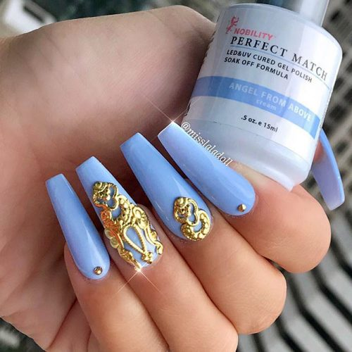 Blue Coffin Nails Picture 1