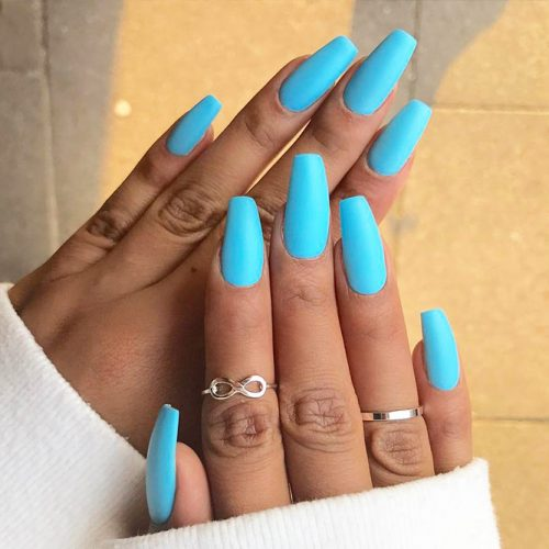 Blue Coffin Nails Picture 3
