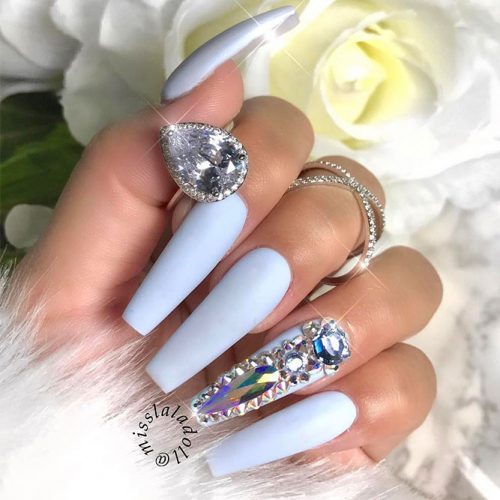 Blue Coffin Nails Picture 2
