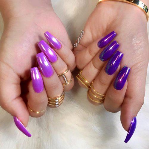 Purple Coffin Nails Picture 2