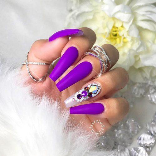 Purple Coffin Nails Picture 3