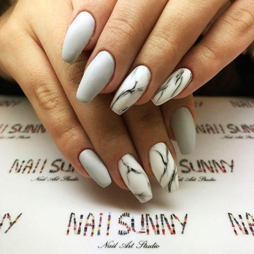 White Coffin Nails Picture 5