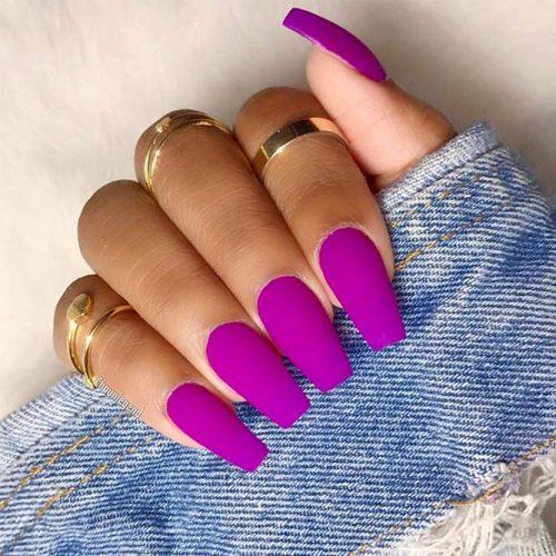 Purple Coffin Nails Picture 1