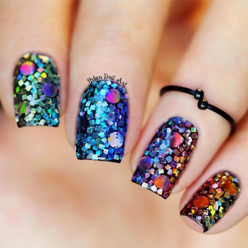 Bright Cute Nail Designs with Glitter Picture 1