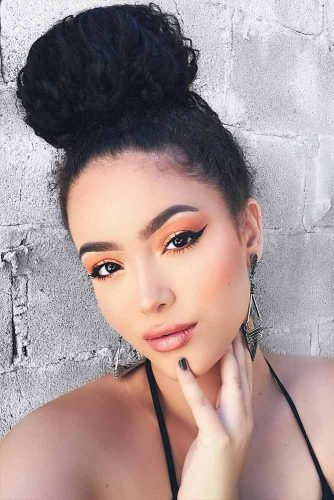Cute Hairstyles for Curly Hair with Buns Picture 5