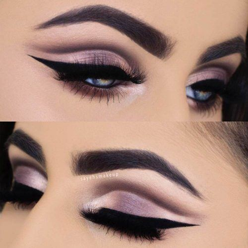 Gray Cut Crease With Bold Eyeliner #graycutcrease