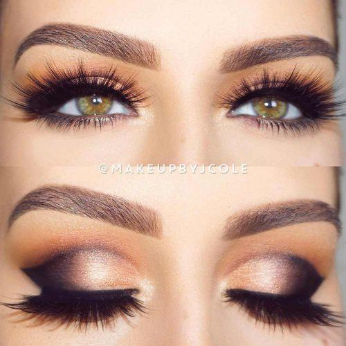 Gold And Black Shimmer Cut Crease #smokeycutcrease