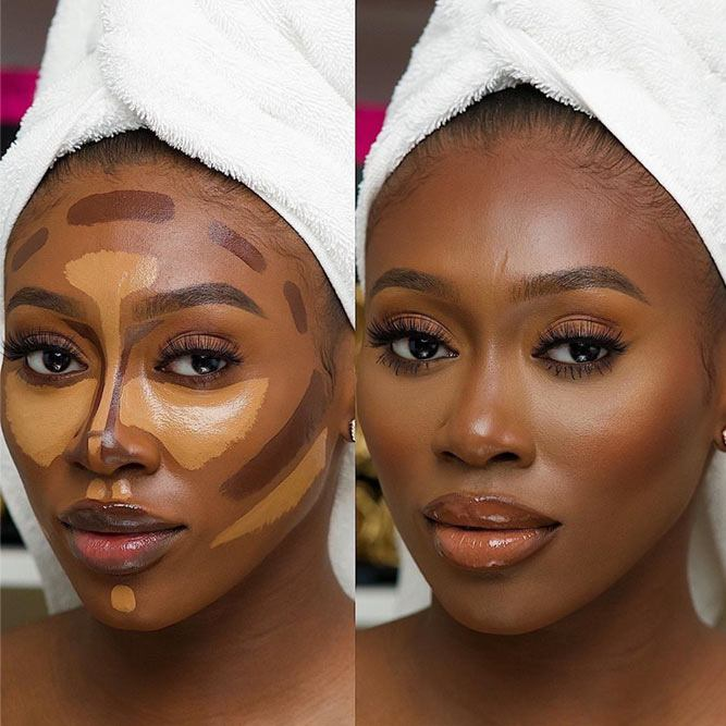 Contour Makeup For Dark Skin Tone #darkskin #contouring