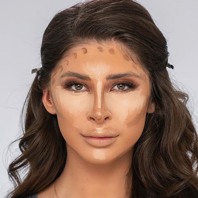Easy Contouring Makeup Idea #bronzer