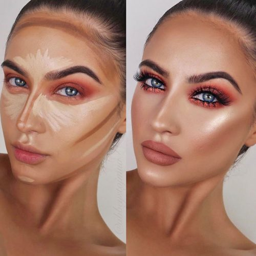 How to Contour Heart Face Shape