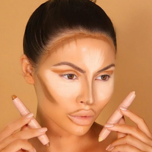 How to Contour Diamond Face Shape