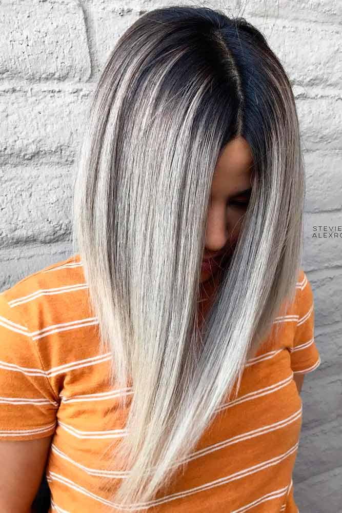 Ash Blonde A-Line Bob #ashblondehair #angelbob