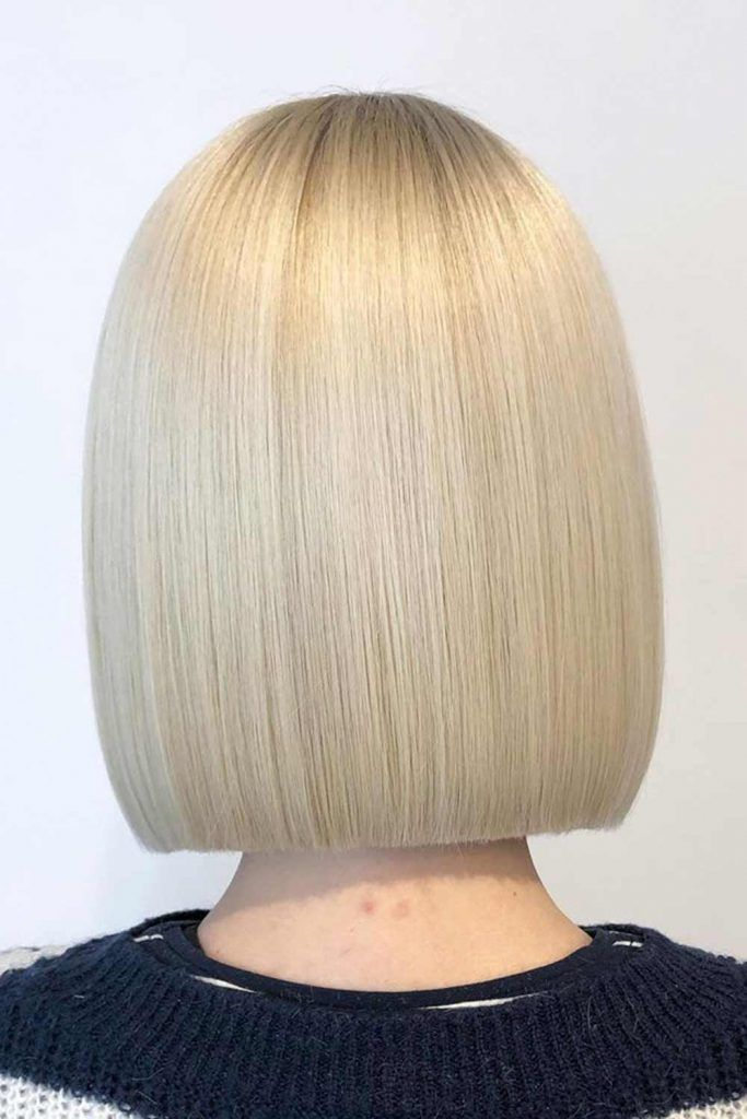Sleek Blonde Long Bob #sleekhair #prettyhairstyle