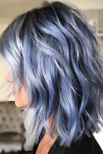 Colorful Long Bob Hairstyles Picture 4