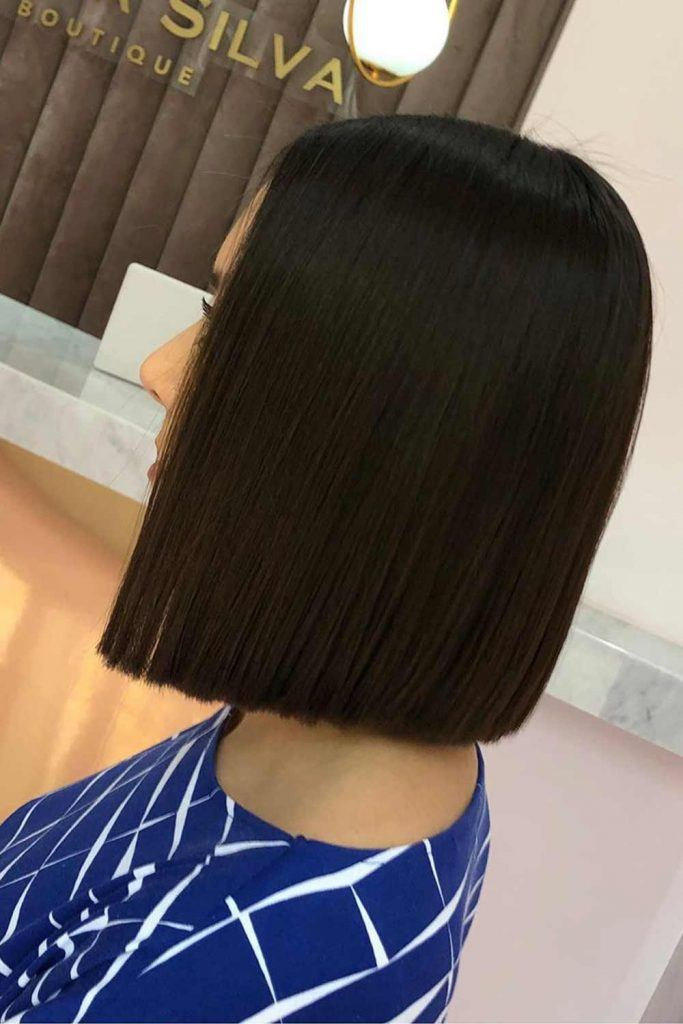 Blunt Bob For Brunettes #darkhair #bluntbob