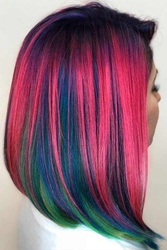 Colorful Long Bob Hairstyles Picture 5