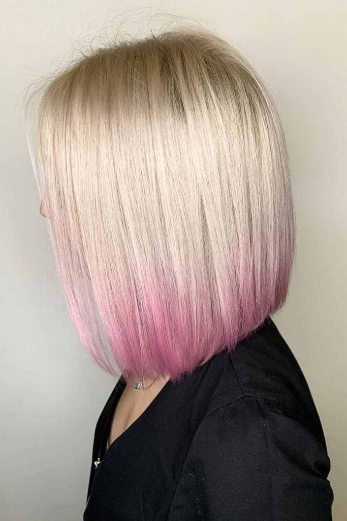 Long Bob Haircut With Pink Ombre #pinkhair #ombrehair