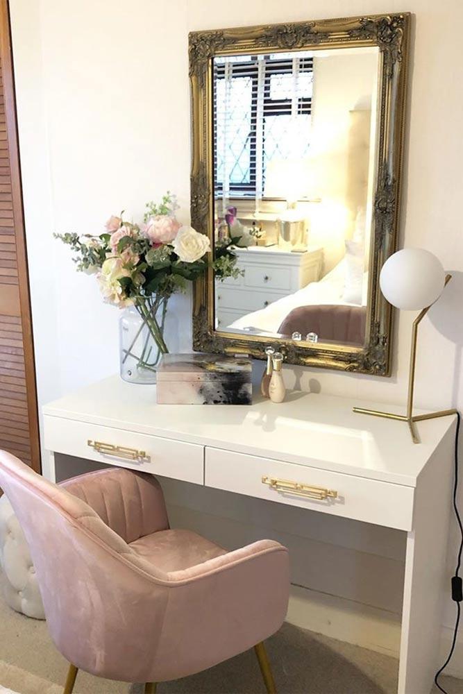 How Big Is A Makeup Vanity? #pinkchair